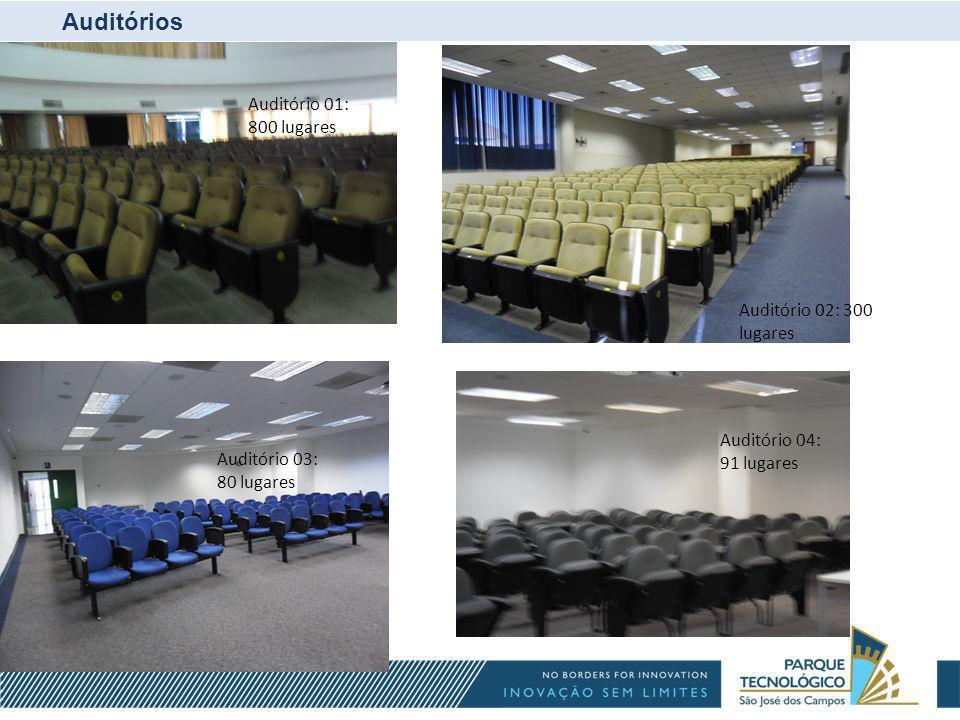 Auditórios Auditório 01: 800 lugares Auditório 03
