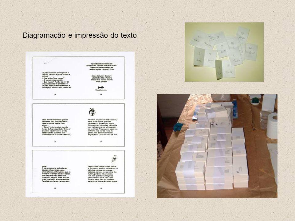 Diagramação e impressão do texto