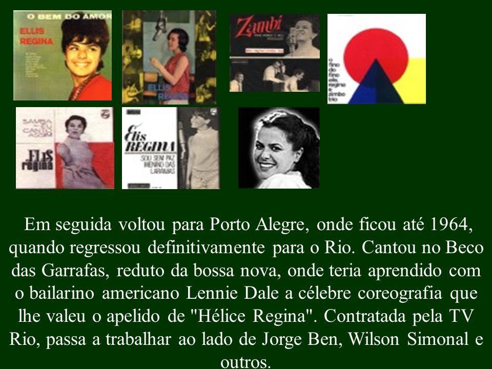 Em seguida voltou para Porto Alegre, onde ficou até 1964, quando regressou definitivamente para o Rio.