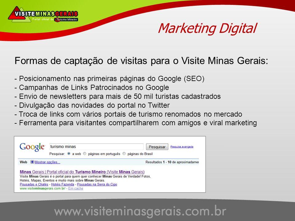Marketing Digital Formas de captação de visitas para o Visite Minas Gerais: Posicionamento nas primeiras páginas do Google (SEO)
