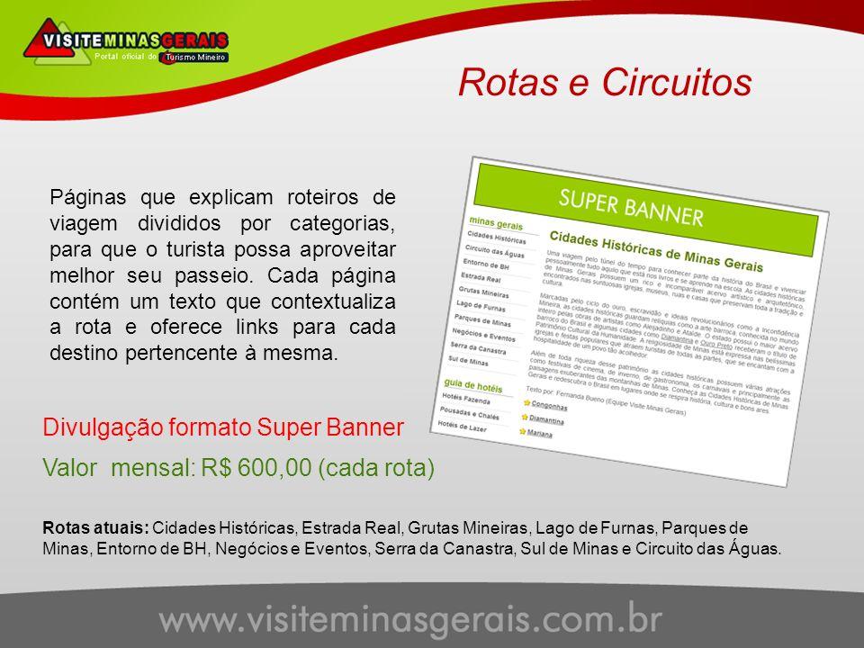 Rotas e Circuitos Divulgação formato Super Banner