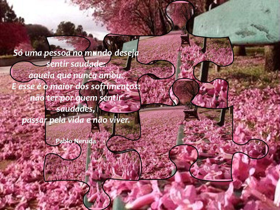 Só uma pessoa no mundo deseja sentir saudade: aquela que nunca amou