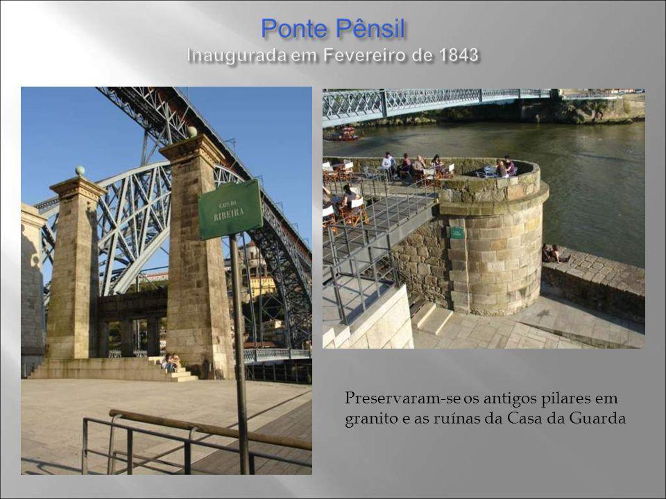 Preservaram-se os antigos pilares em