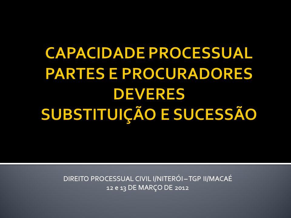 DIREITO PROCESSUAL CIVIL I/NITERÓI – TGP II/MACAÉ