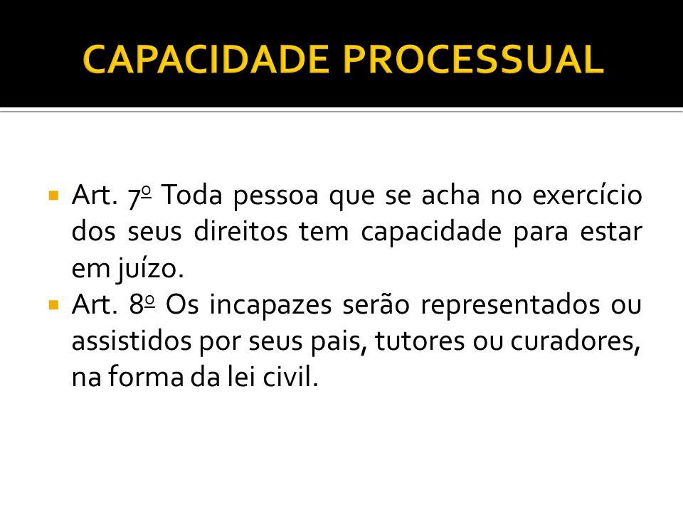 CAPACIDADE PROCESSUAL