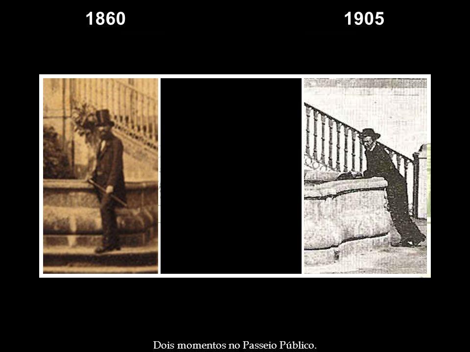 1860 1905 1905 Dois momentos no Passeio Público.