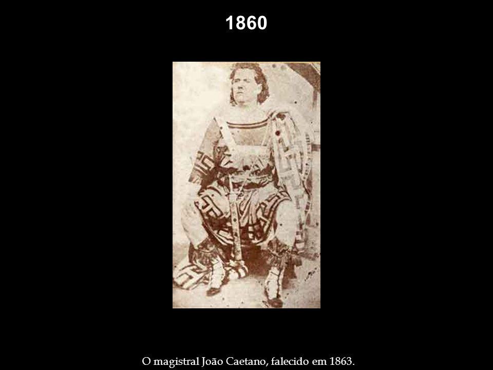 O magistral João Caetano, falecido em 1863.