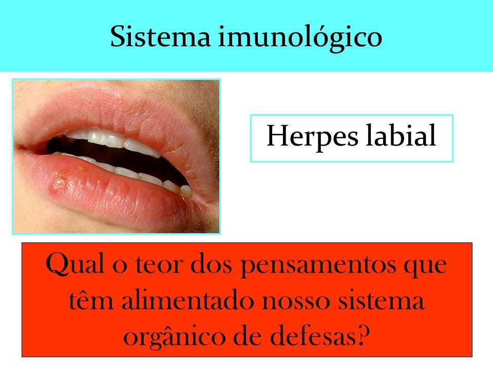 Sistema imunológico Herpes labial.