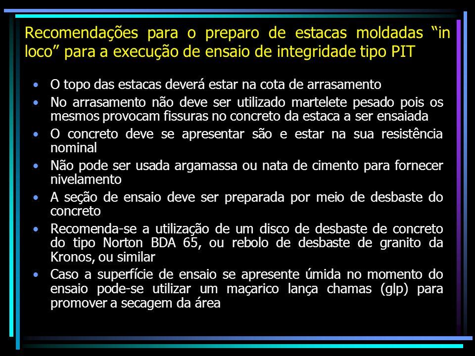 Recomendações para o preparo de estacas moldadas in loco para a execução de ensaio de integridade tipo PIT