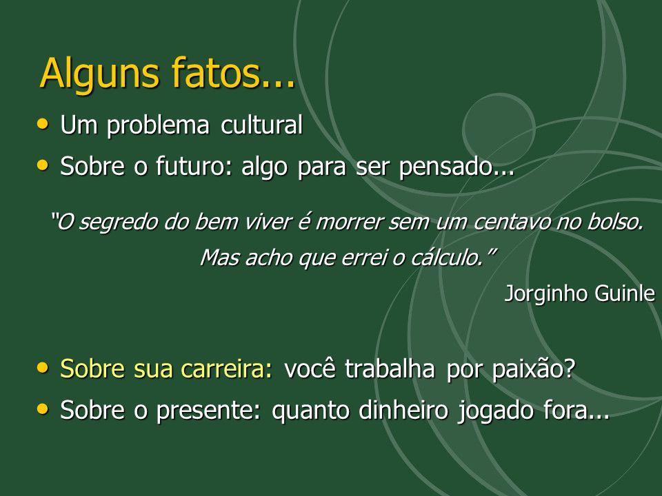 Alguns fatos... Um problema cultural