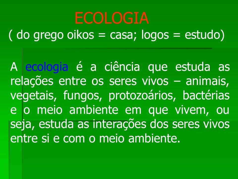 ( do grego oikos = casa; logos = estudo)