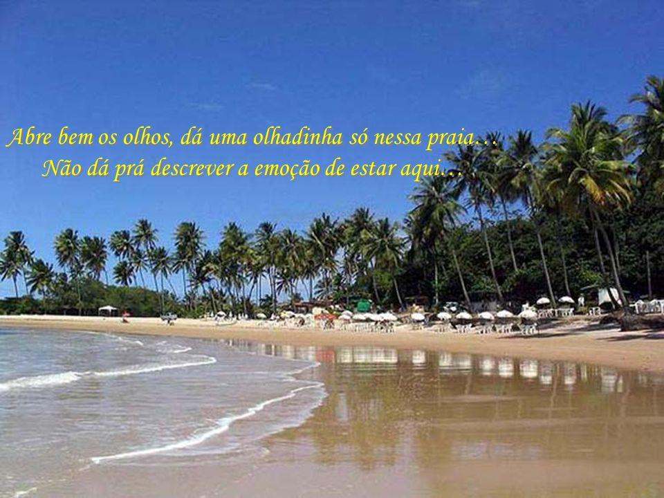 Abre bem os olhos, dá uma olhadinha só nessa praia…