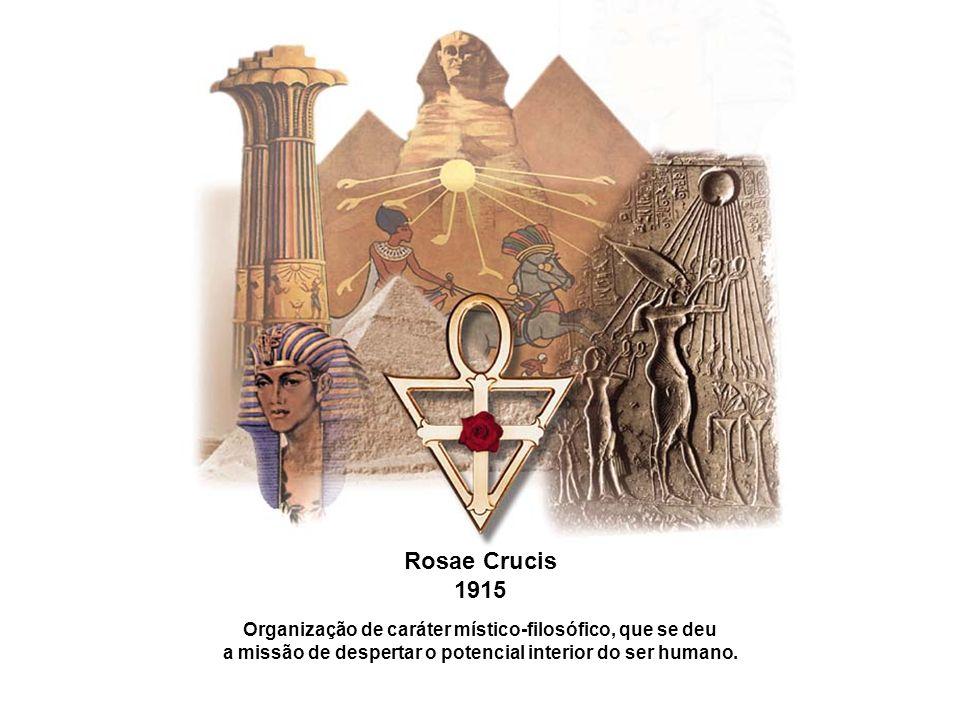 Rosae Crucis 1915. Organização de caráter místico-filosófico, que se deu.