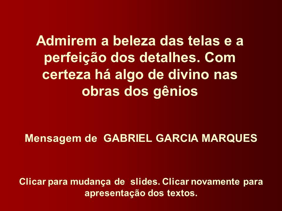 Mensagem de GABRIEL GARCIA MARQUES