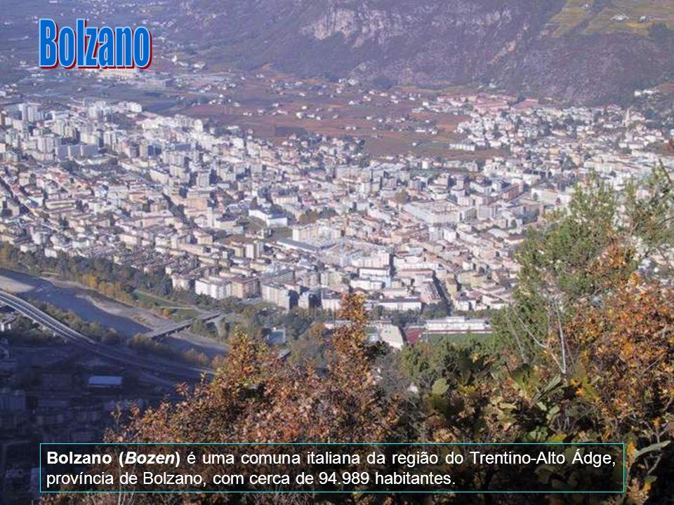 Bolzano Bolzano (Bozen) é uma comuna italiana da região do Trentino-Alto Ádge, província de Bolzano, com cerca de 94.989 habitantes.