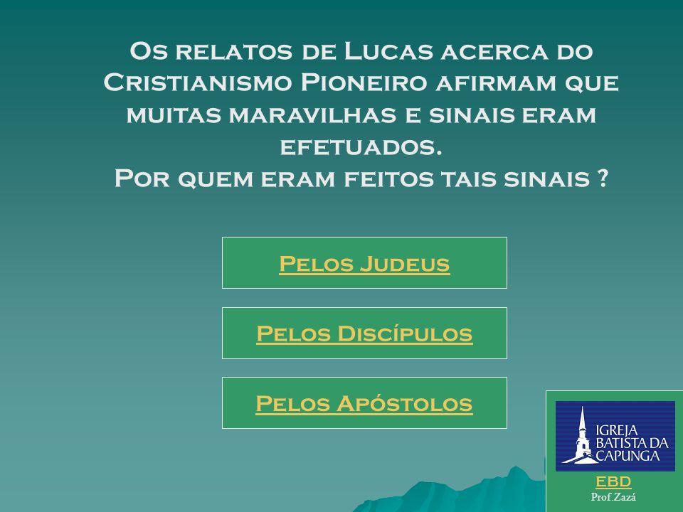 Os relatos de Lucas acerca do Cristianismo Pioneiro afirmam que muitas maravilhas e sinais eram efetuados. Por quem eram feitos tais sinais