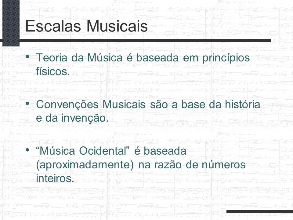Escalas Musicais Teoria da Música é baseada em princípios físicos.