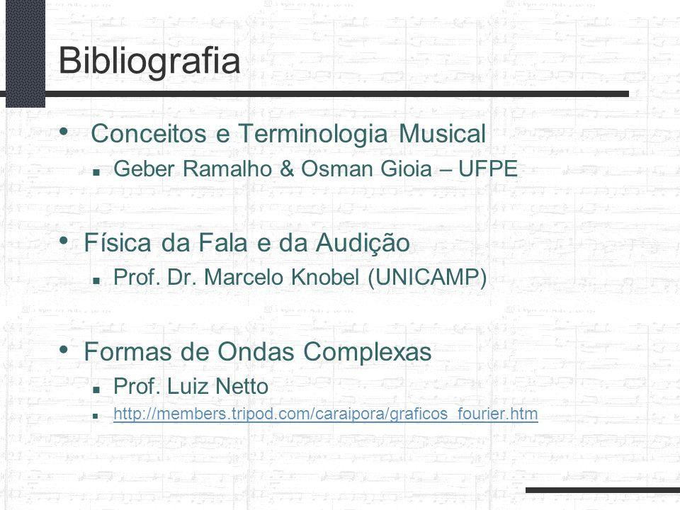 Bibliografia Conceitos e Terminologia Musical