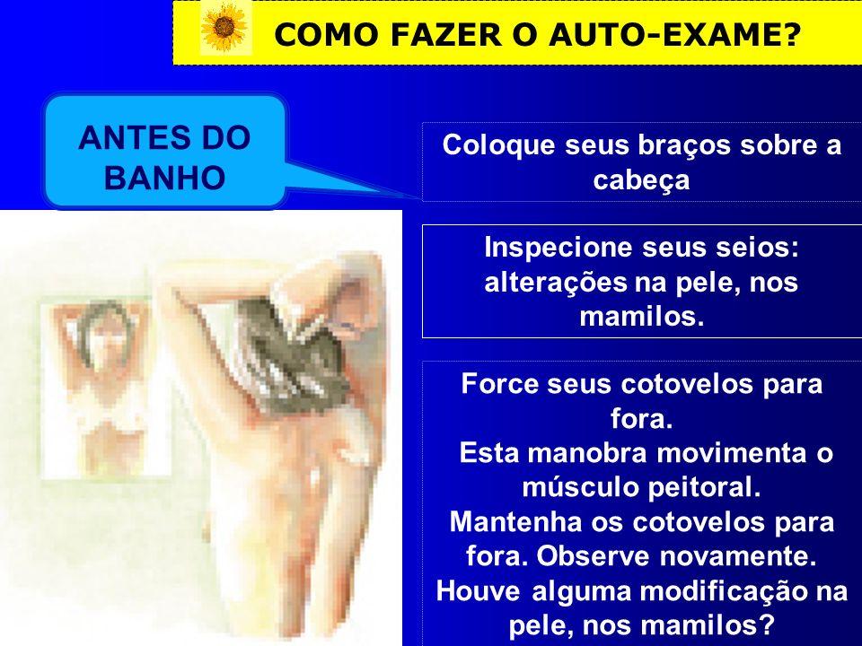 ANTES DO BANHO COMO FAZER O AUTO-EXAME