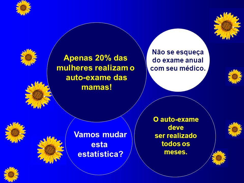 Apenas 20% das mulheres realizam o auto-exame das mamas! Vamos mudar
