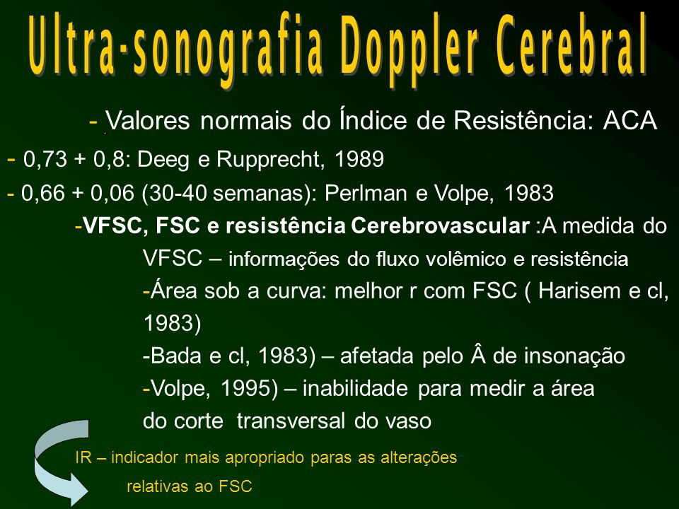 Ultra-sonografia Doppler Cerebral
