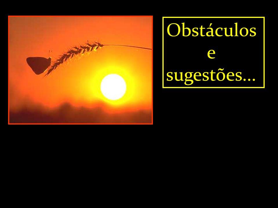 Obstáculos e sugestões...