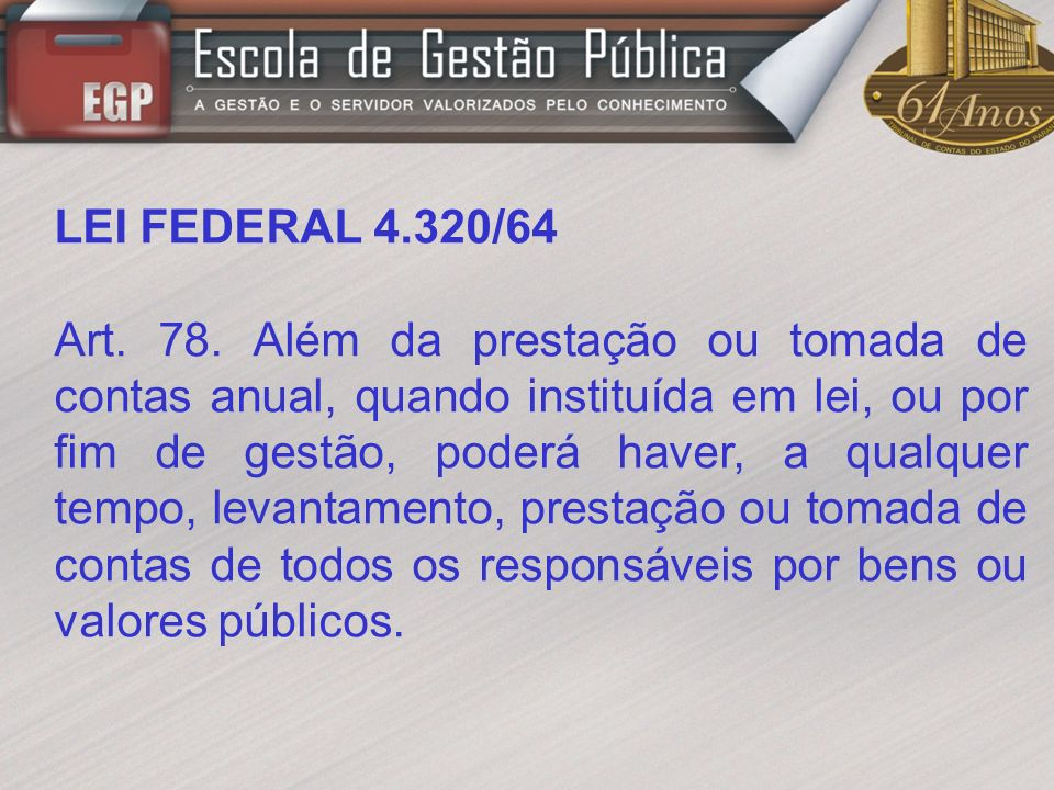 LEI FEDERAL 4.320/64