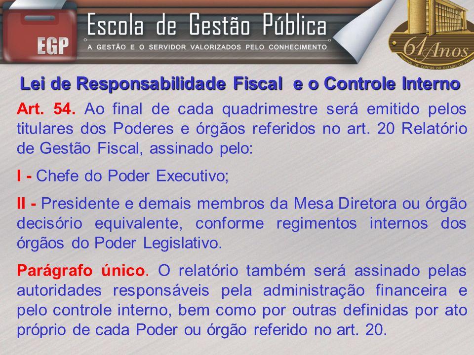 Lei de Responsabilidade Fiscal e o Controle Interno