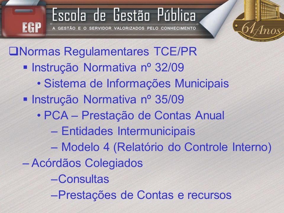 Normas Regulamentares TCE/PR