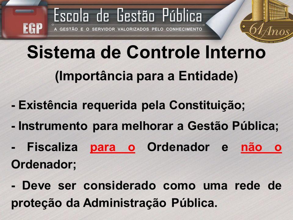 Sistema de Controle Interno (Importância para a Entidade)