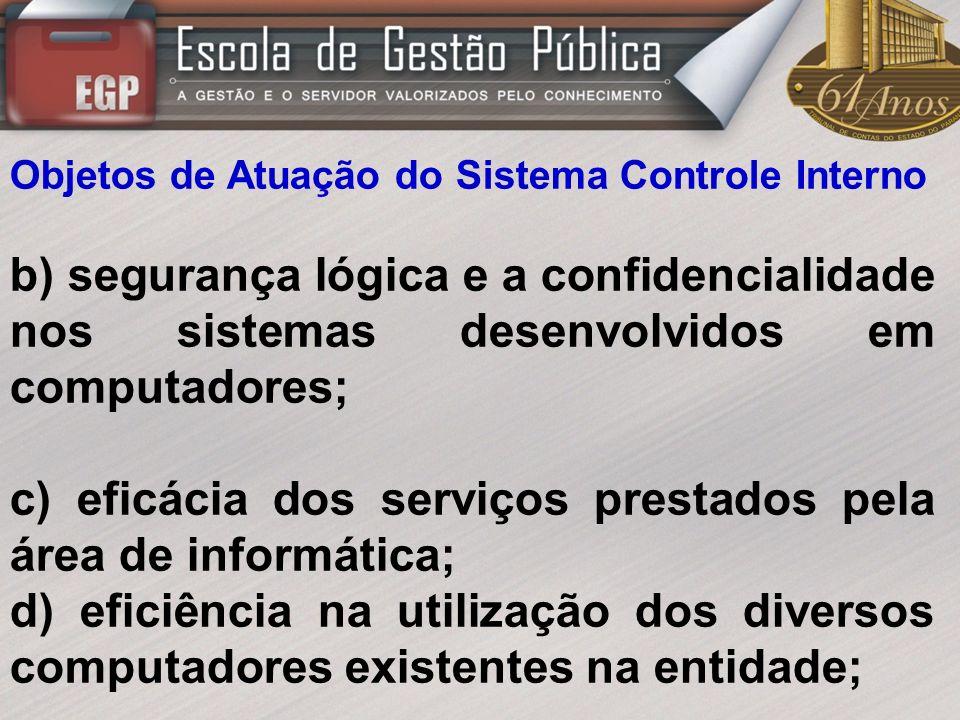 c) eficácia dos serviços prestados pela área de informática;