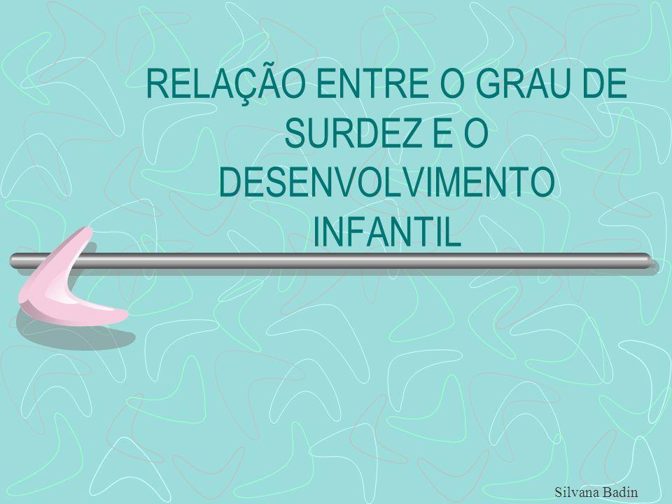 RELAÇÃO ENTRE O GRAU DE SURDEZ E O DESENVOLVIMENTO INFANTIL