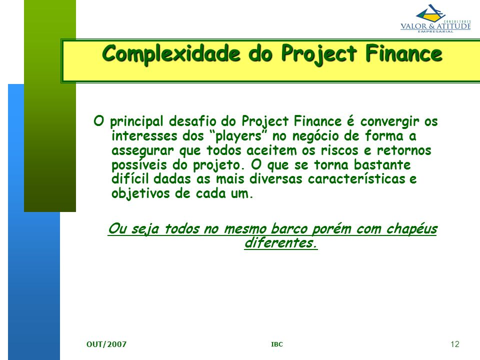 Complexidade do Project Finance