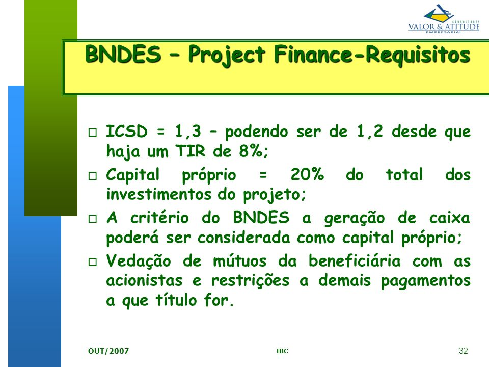 BNDES – Project Finance-Requisitos