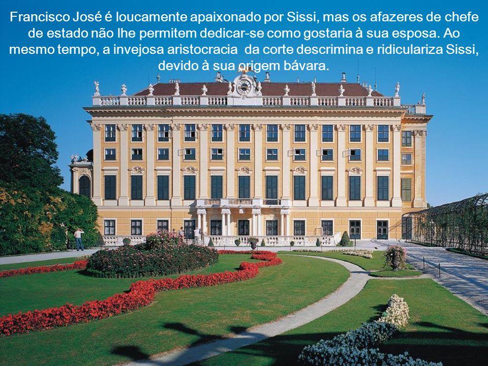 Francisco José é loucamente apaixonado por Sissi, mas os afazeres de chefe de estado não lhe permitem dedicar-se como gostaria à sua esposa.