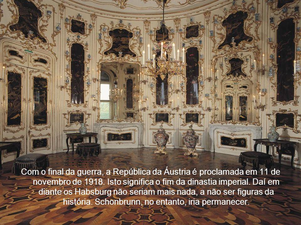 Com o final da guerra, a República da Áustria é proclamada em 11 de novembro de 1918.