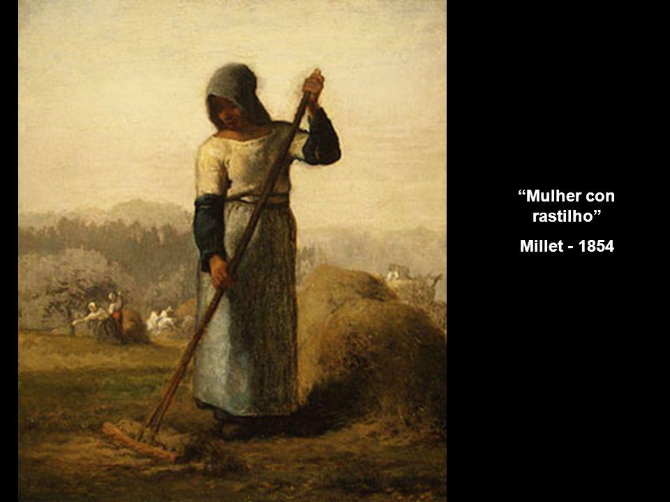 Mulher con rastilho Millet - 1854