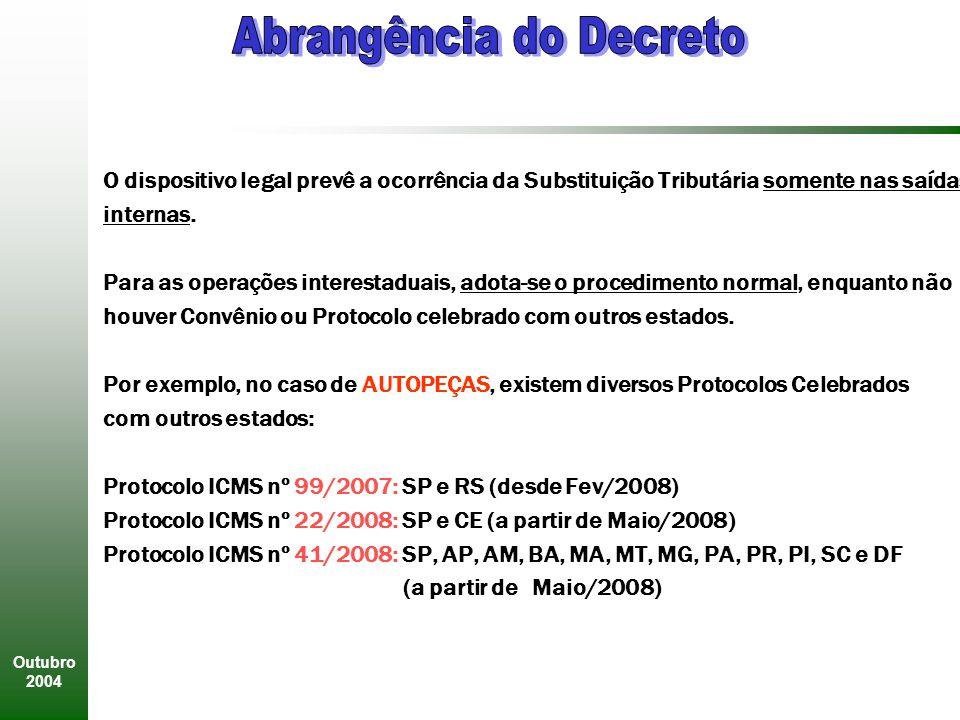 Abrangência do Decreto