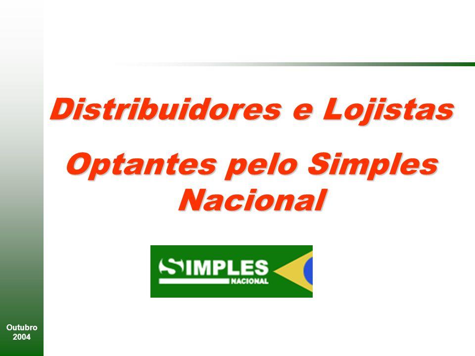 Distribuidores e Lojistas Optantes pelo Simples Nacional