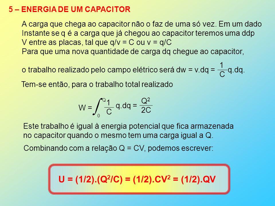 U = (1/2).(Q2/C) = (1/2).CV2 = (1/2).QV