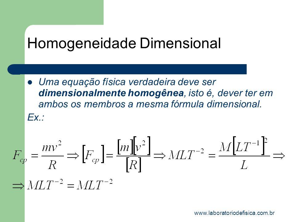 Homogeneidade Dimensional