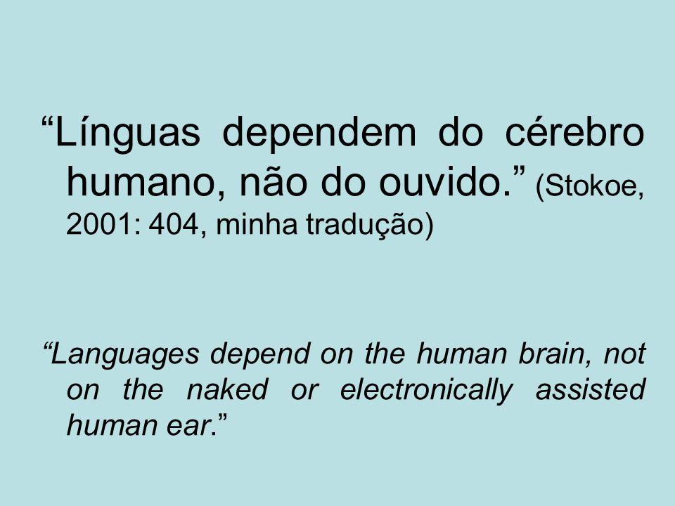 Línguas dependem do cérebro humano, não do ouvido