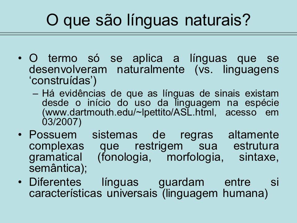 O que são línguas naturais