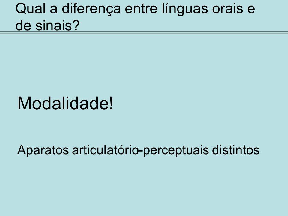 Qual a diferença entre línguas orais e de sinais