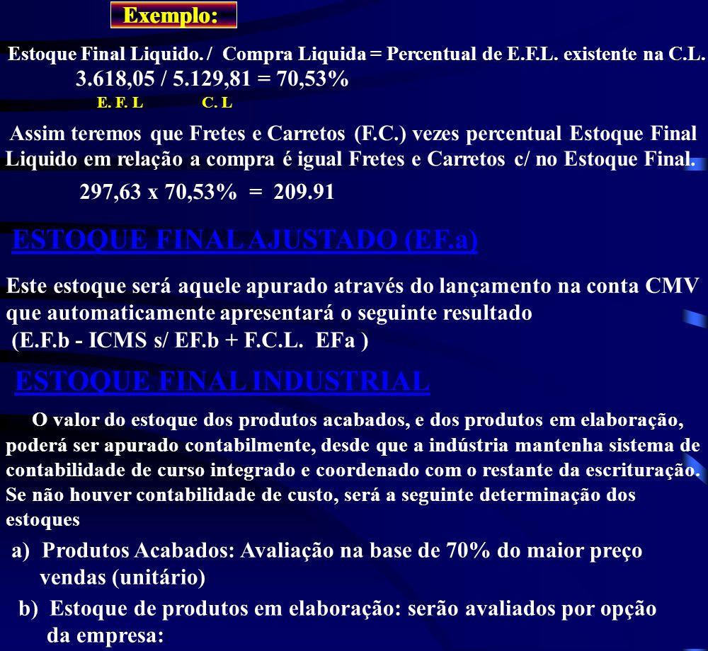 ESTOQUE FINAL AJUSTADO (EF.a)