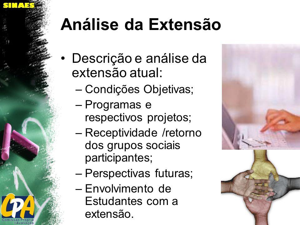 Análise da Extensão Descrição e análise da extensão atual: