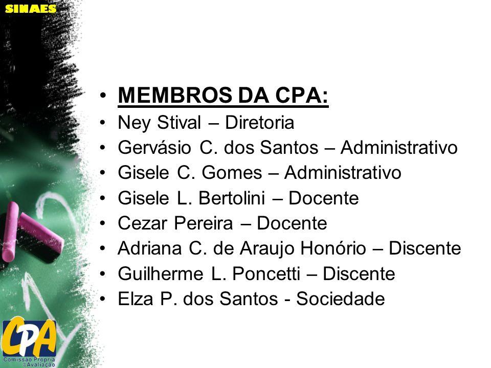 MEMBROS DA CPA: Ney Stival – Diretoria