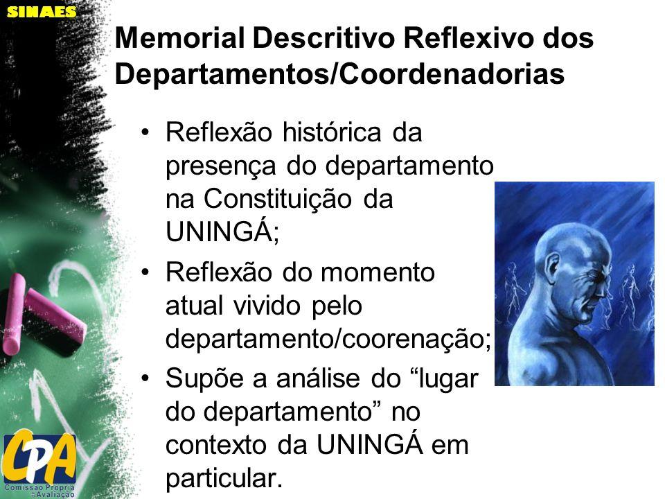 Memorial Descritivo Reflexivo dos Departamentos/Coordenadorias