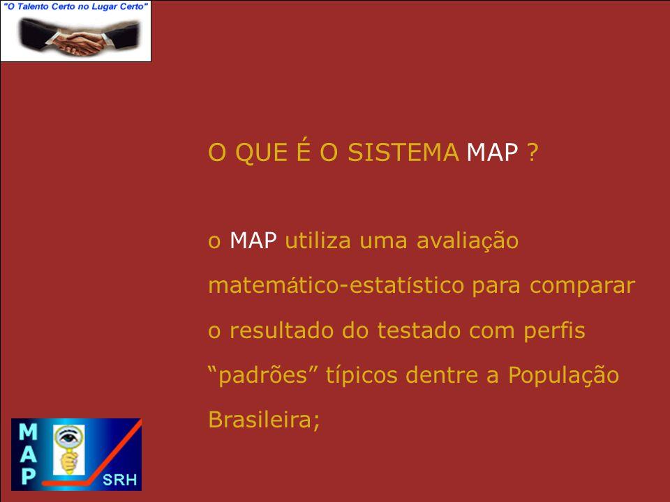 O QUE É O SISTEMA MAP o MAP utiliza uma avaliação
