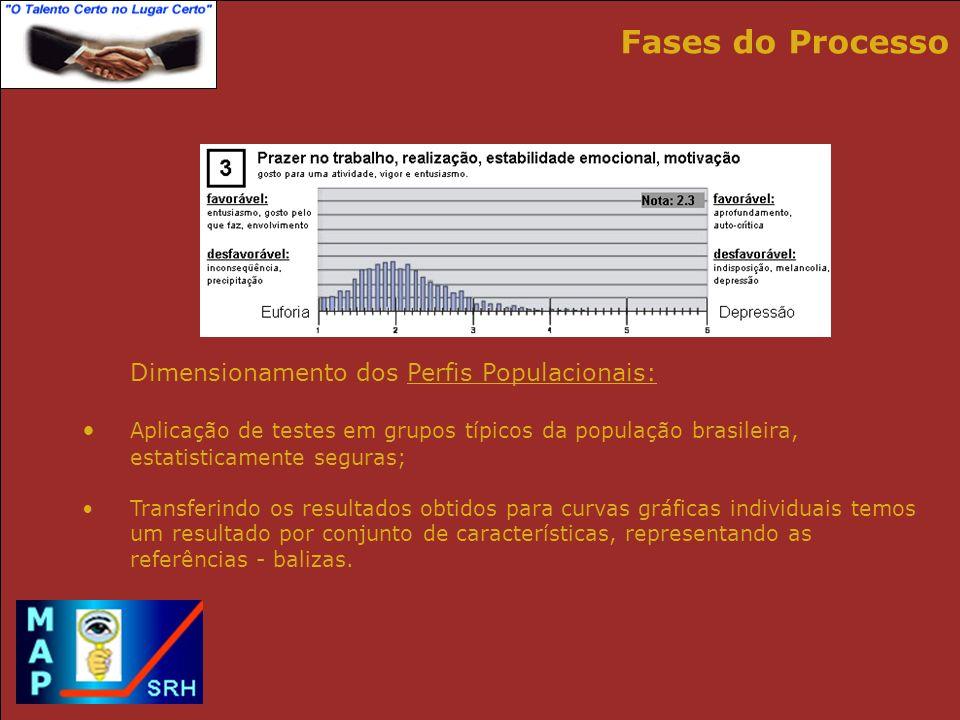 Fases do Processo Dimensionamento dos Perfis Populacionais: